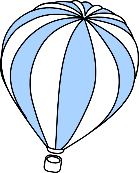 Hot Air Balloon clipart sketch #8
