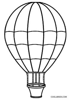 Hot Air Balloon clipart sketch #9