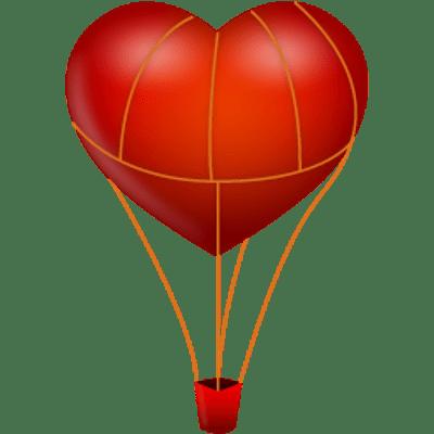Heart clipart hot air balloon Heart StickPNG Shaped Hot Air