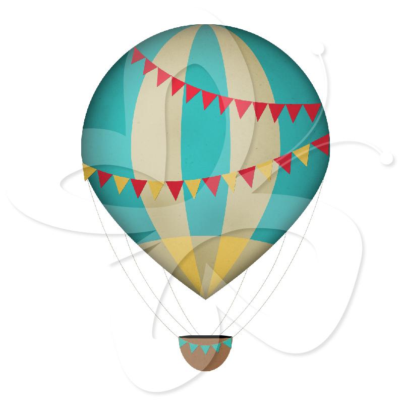 Hot Air Balloon clipart vintage Balloon Clipart Art Free Clipart