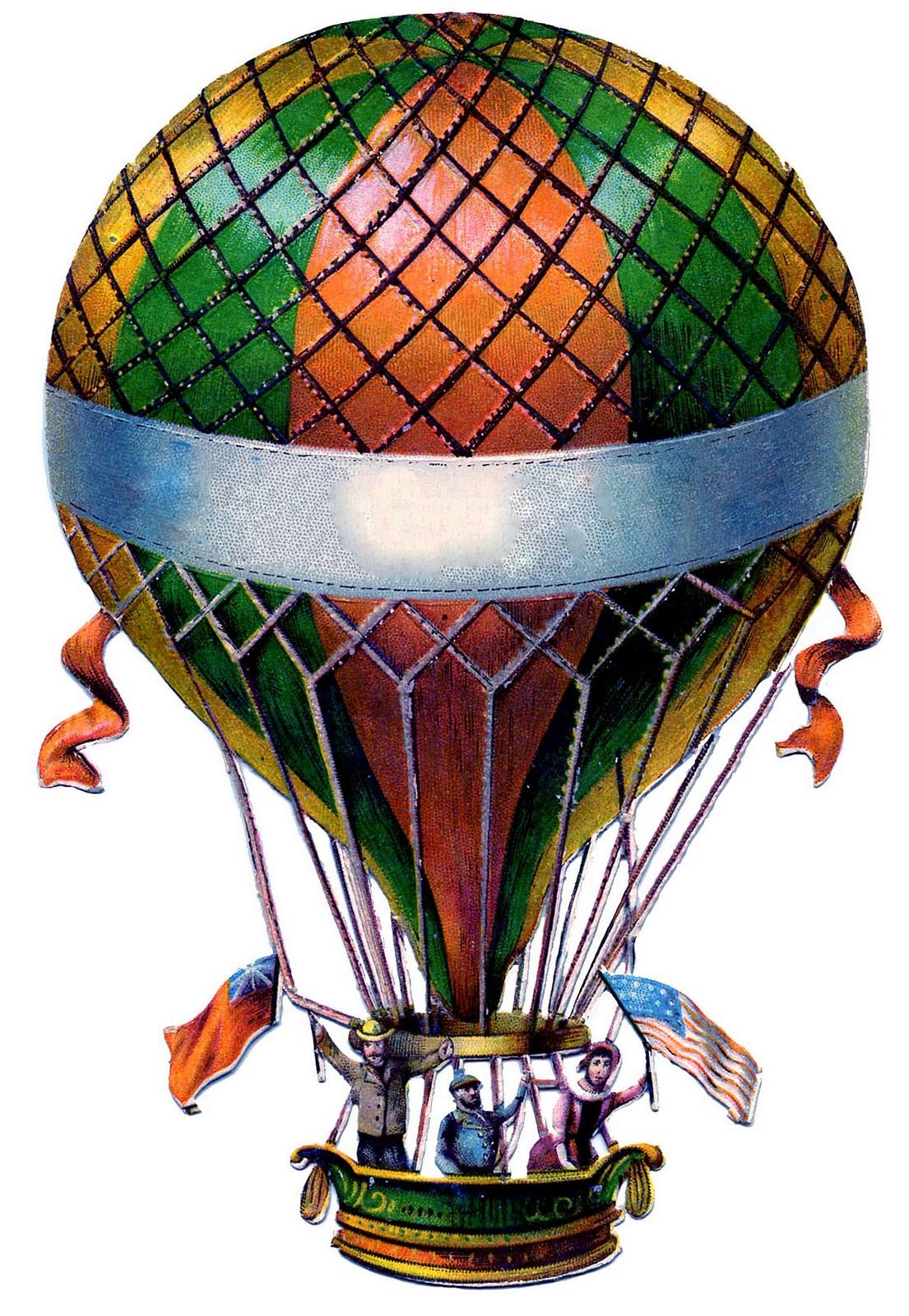 Hot Air Balloon clipart vintage Graphic balloons Balloon air Steampunk