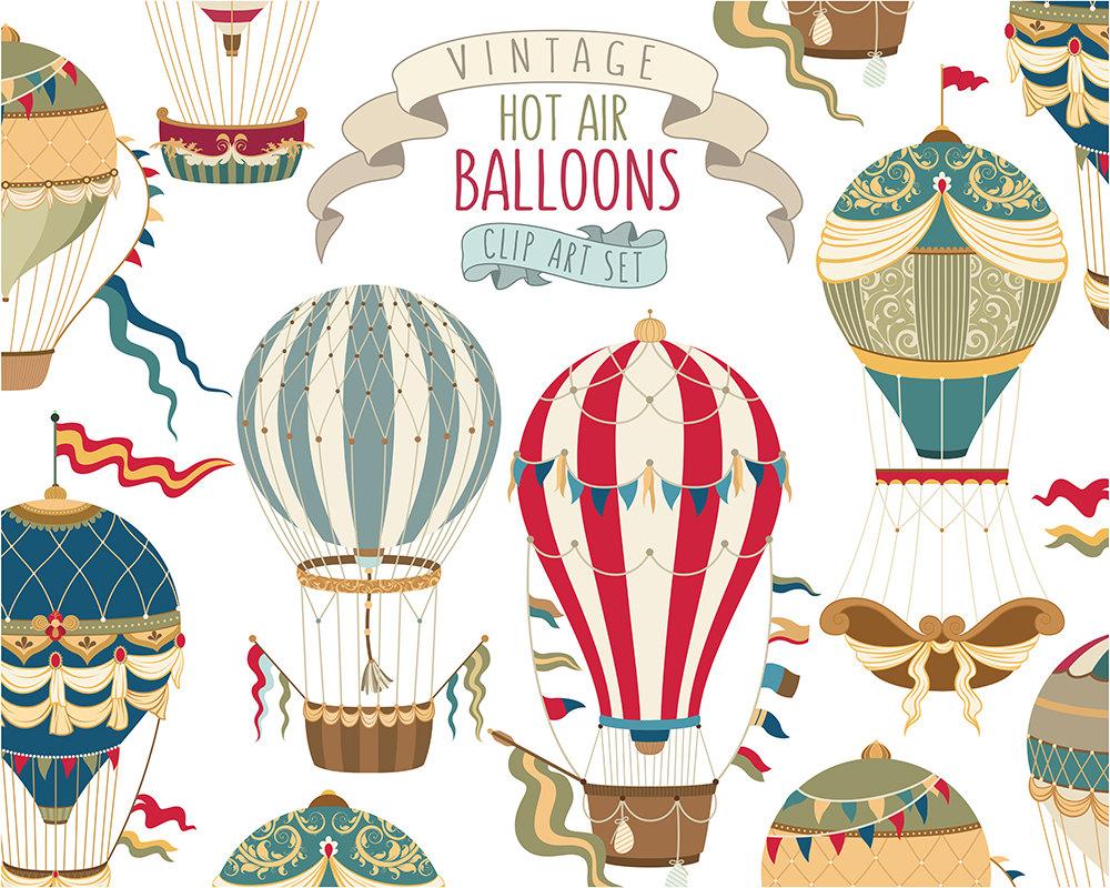 Hot Air Balloon clipart vintage PNG art balloon Clipart Air