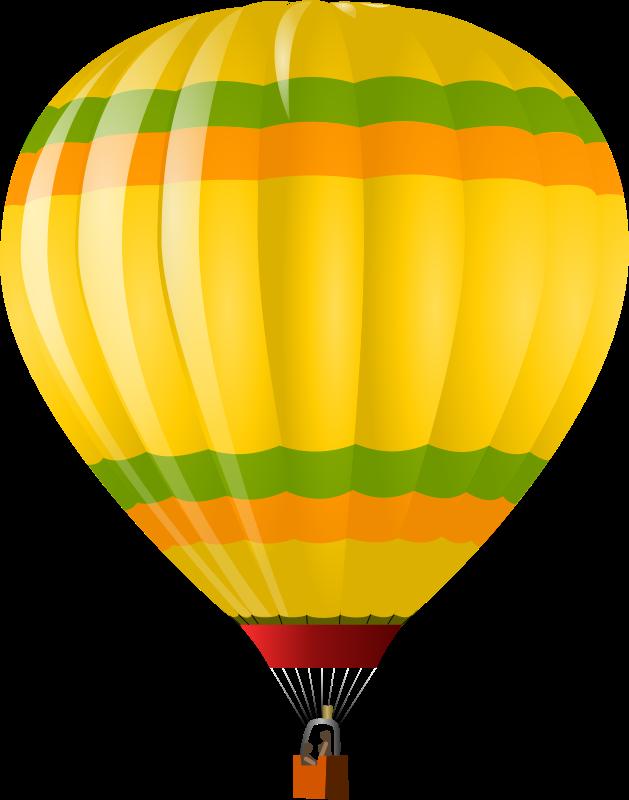 Yellow clipart hot air balloon Free Clip Art Balloon Yellow