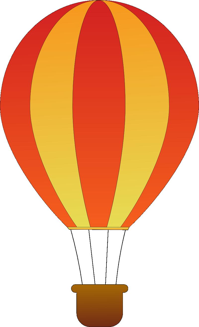 Orange clipart hot air balloon Outline Art Panda Clip Clipart