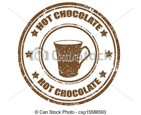 Hot Chocolate clipart hot coffee  Vectors stamp Grunge Chocolate