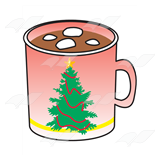 Marshmellow clipart hot chocolate Clip Pink  Art Christmas
