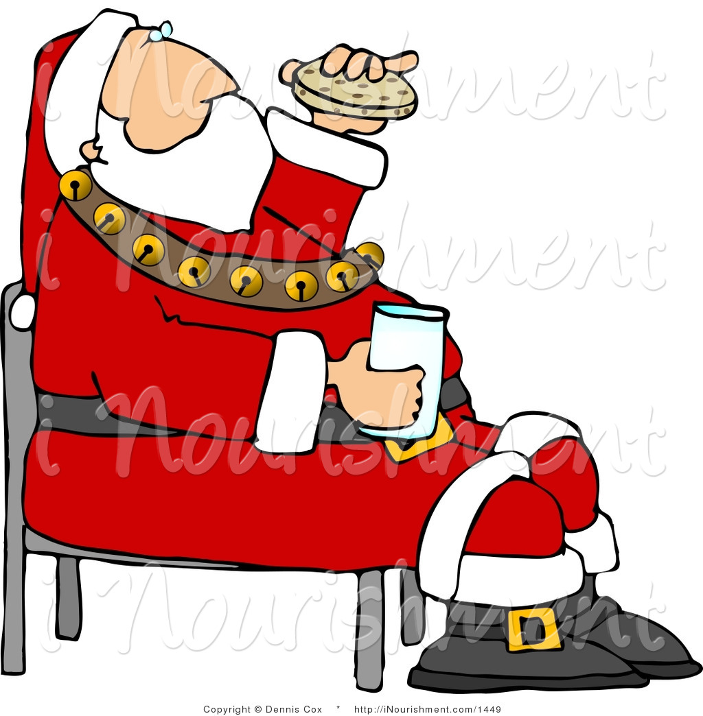 Larger clipart santa Milk Clipart Clipart Images Free