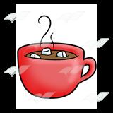 Marshmellow clipart hot chocolate Red Red Mug—with Mug chocolate