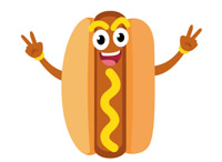 Hot Dog clipart Kb with Clipart Graphics