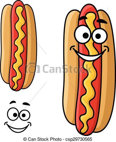 Hot Dog clipart american food Vector Art hot Cartoon csp29730565