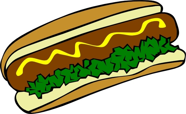 Hot Dog clipart american food Free art  in Dog