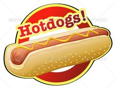 Hot Dog clipart american food Background  artwork 50's American