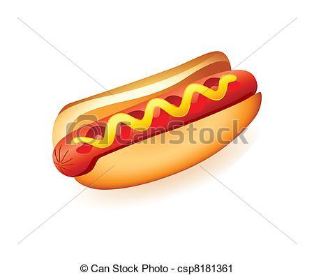 Hot Dog clipart american food Dog Hot american Art csp8181361