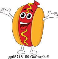 Hot Dog clipart ballgame Dog   character cartoon