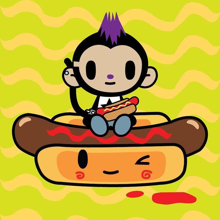 """Hot Dog clipart ballgame Hot Neon Hot """"❤ Day!"""