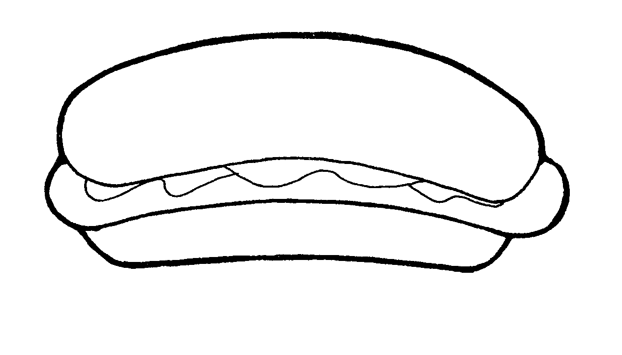Hot Dog clipart black and white White Cliparting clipart com dog