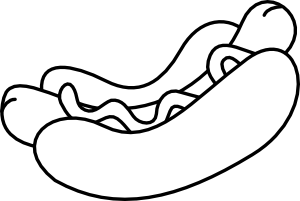 Hot Dog clipart black and white Personals and no White Dog