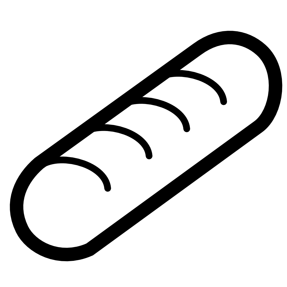 Hot Dog clipart black and white And Hot black dog and