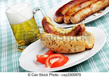 Hot Dog clipart breakfast sausage Hot beer grilled of and