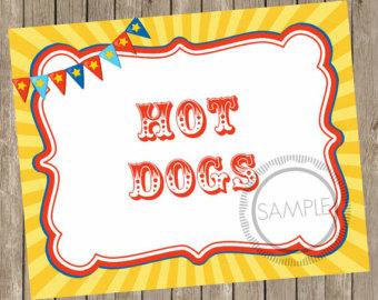 Hot Dog clipart carnival 8x10 DOWNLOAD* Printable Carnival Carnival