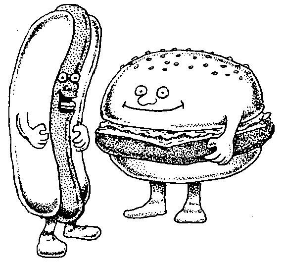 Hot Dog clipart plain burger Clipart Zone · Clipart Cliparts