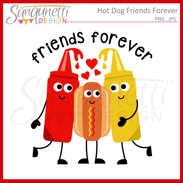 Hot Dog clipart red Friends clipart Hot Friends Sanqunetti