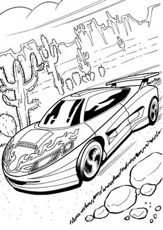 Hot Wheels clipart black and white Pages Cars collection 5 of