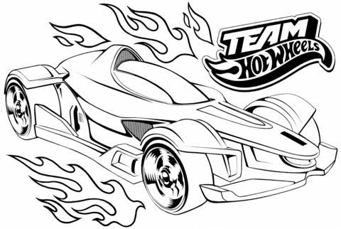 Hot Wheels clipart black and white Pages Wheels Coloring Free