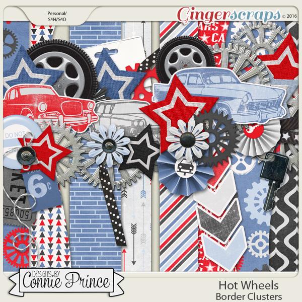 Hot Wheels clipart border Wheels GingerScraps Clusters Embellishments Border