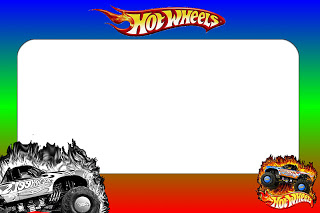 Hot Wheels clipart border Wheels Printable Party: Hot Invitations