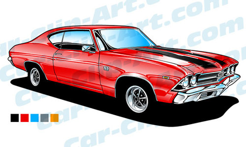 Hot Wheels clipart chevelle ss Chevelle 69 Vector More and