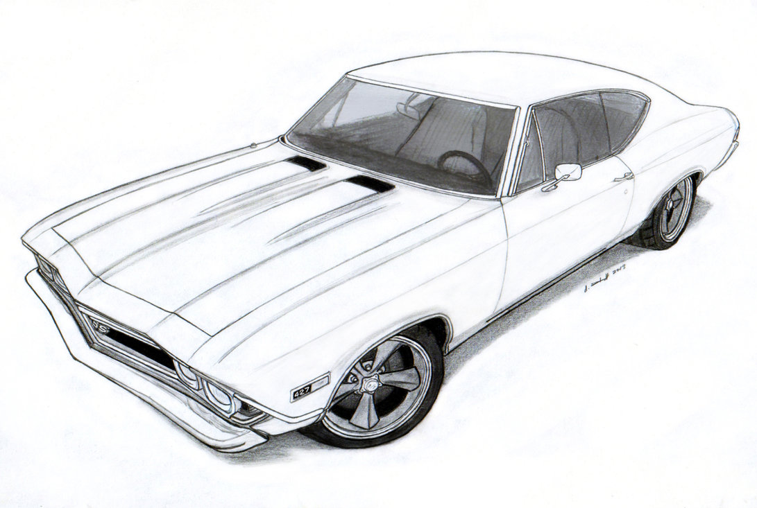 Hot Wheels clipart chevelle ss Pro 1968 Pro SS Drawing