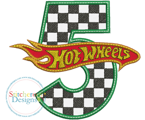 Hot Wheels clipart hot whee 5 Designs Stitcheroo sizes Hover
