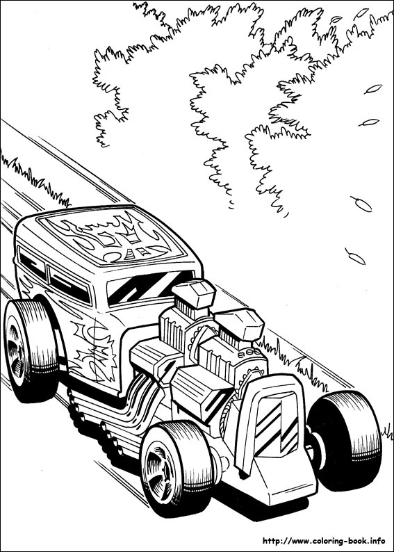 Hot Wheels clipart mobil Coloring [Index] Hot Coloring info