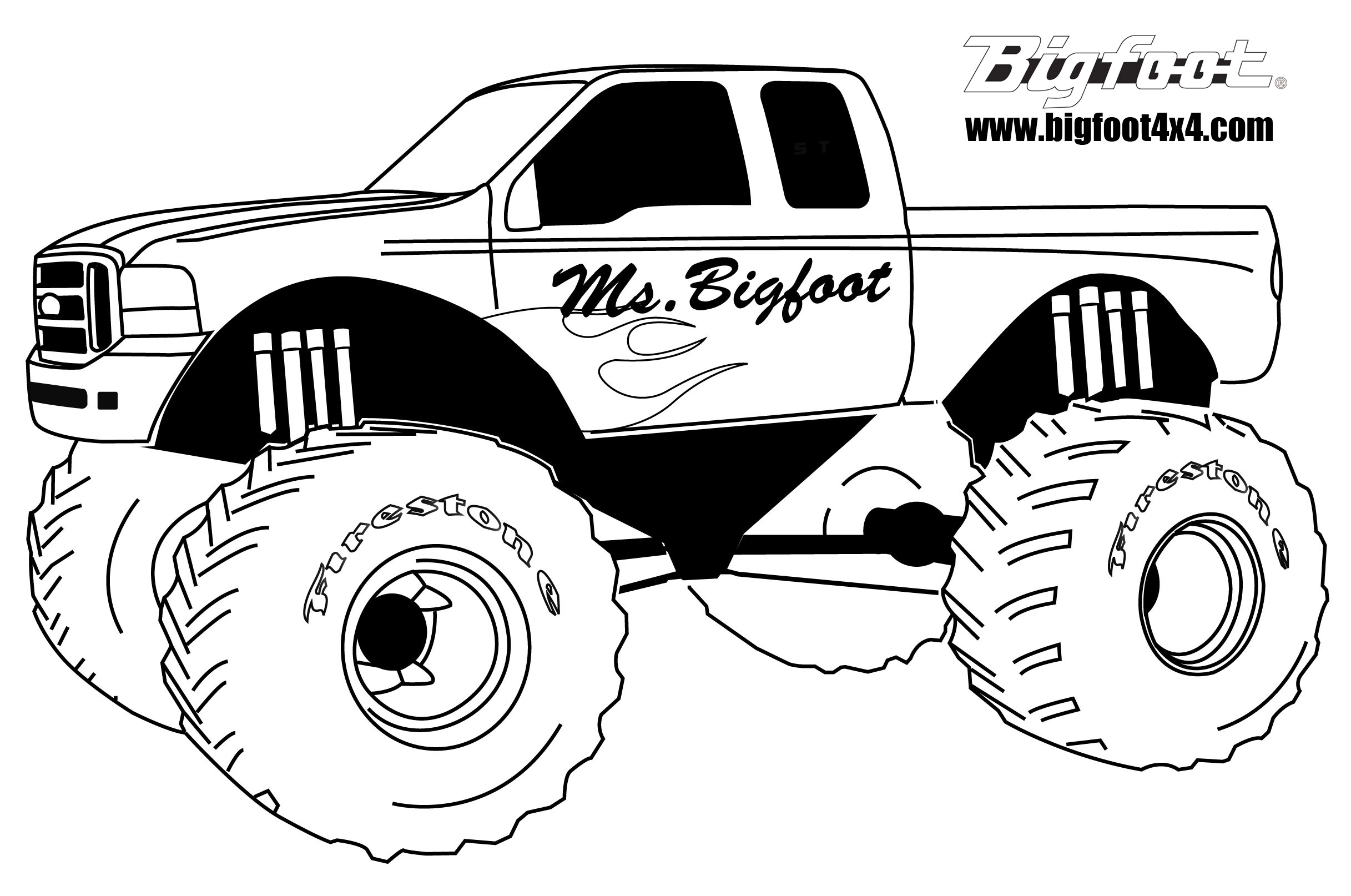 Hot Wheels clipart monster truck tire Monster and Clip Truck of