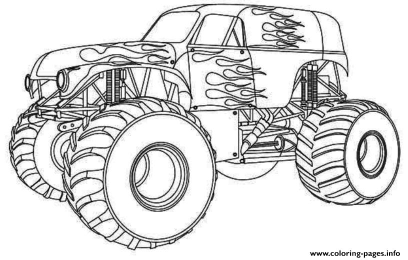 Drawn truck hot wheel car Wheels  pages Monster Coloring
