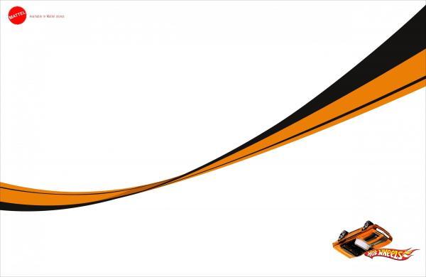 Hot Wheels clipart orange