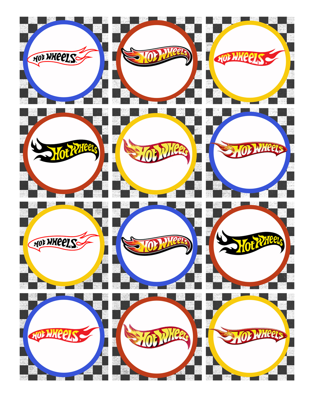 Hot Wheels clipart orange Party Party Birthday Pack Wheels