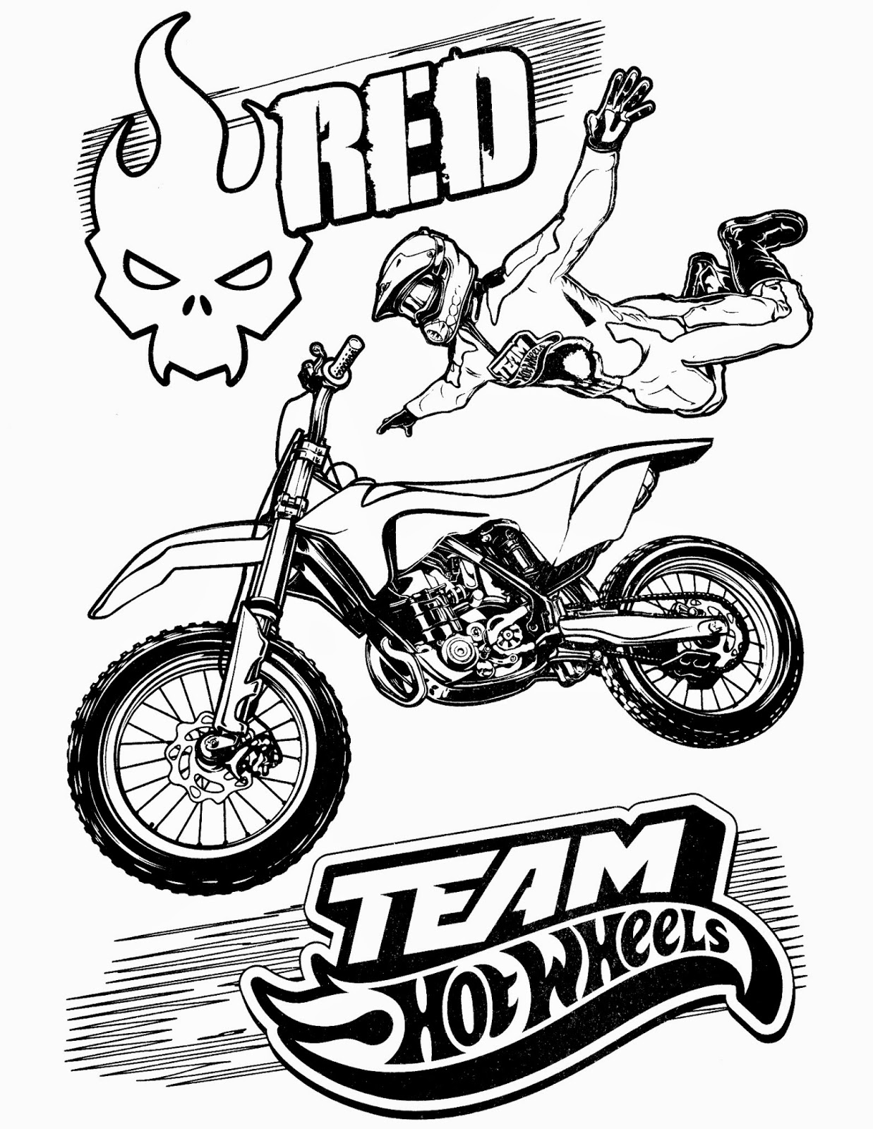 Hot Wheels clipart red Team pages ColoringStar printable pages