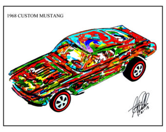 Hot Wheels clipart red 1968 hot Etsy Mustang 1968