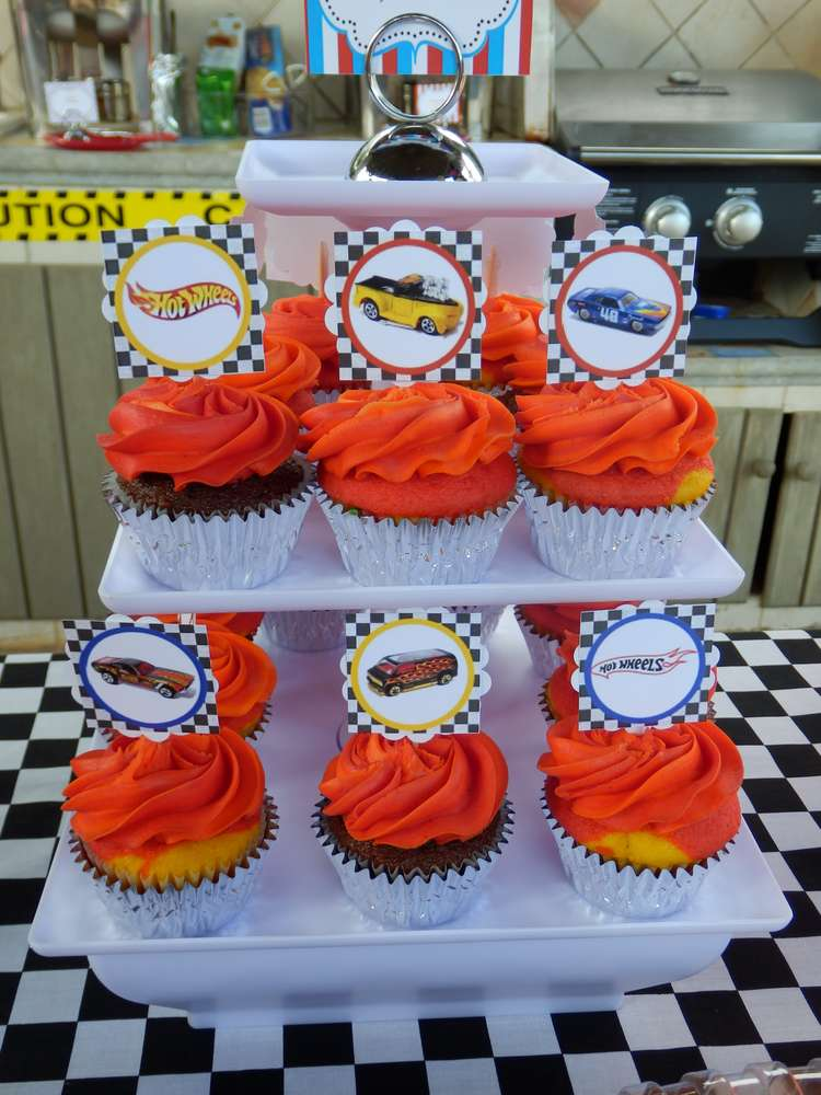 Hot Wheels clipart winner cup About Wheels Details CUPCAKE TOPPERS