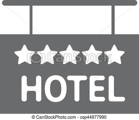 Hotel clipart 5 star Hotel sign 5 Hotel solid