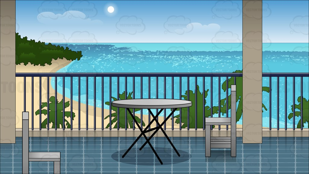 Terrace clipart balcony Pin Overlooking The overlooking A