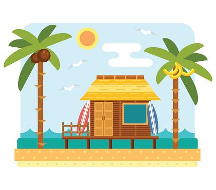 Beach clipart beach hotel Clip Vector Art Hotel Clipart