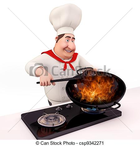 The Kitchen clipart chef kitchen Illustration is Clipart Chef cooking
