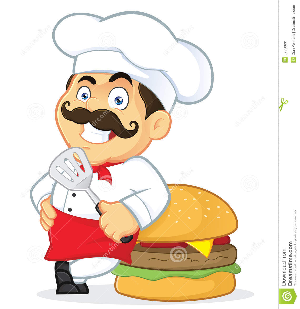 Hamburger clipart funny Chef Mr chef clipart clipart