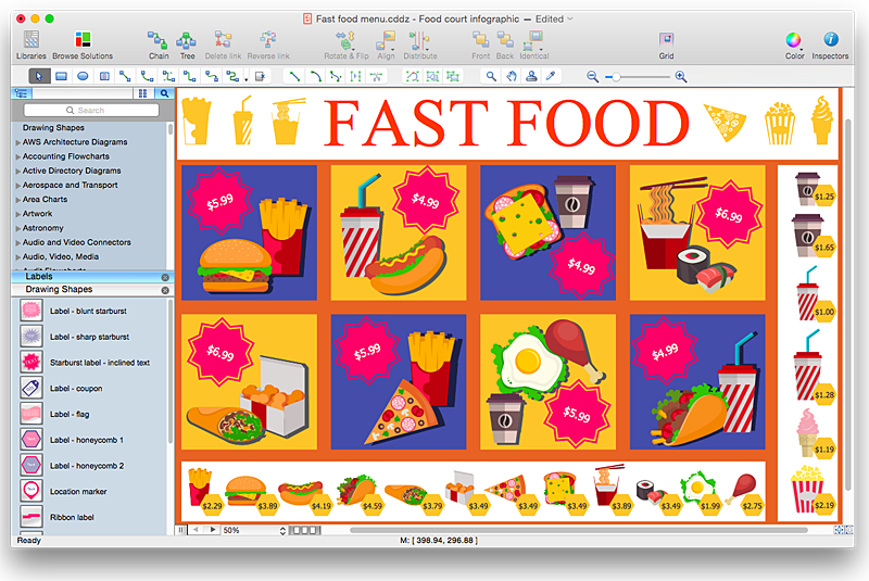 Hotel clipart food court Fast elements solution  restaurant