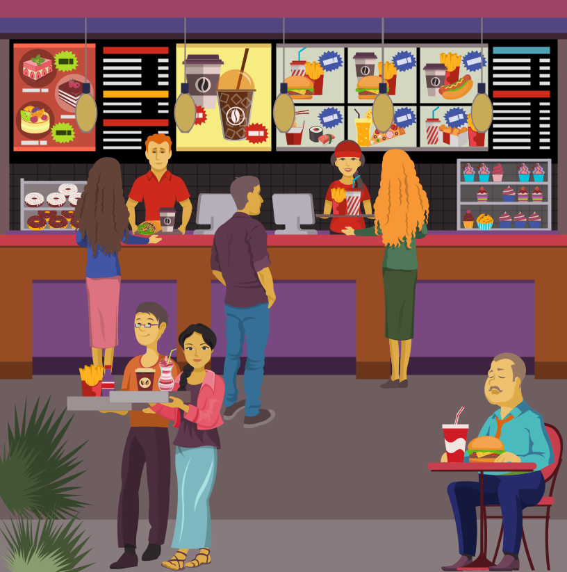 Hotel clipart food court Art Court Clip Food view