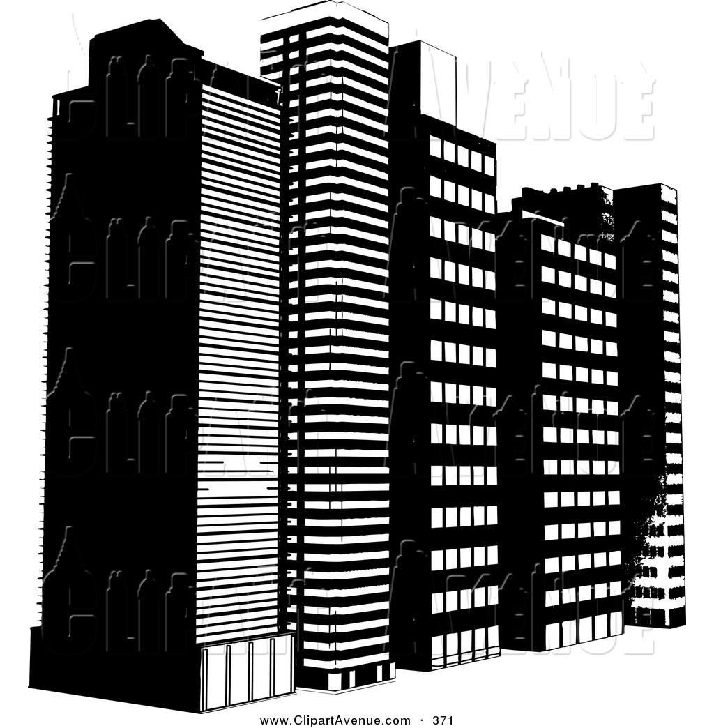Single clipart skyscraper Of Royalty Stock Row White