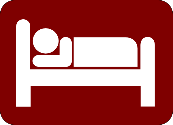 Bed clipart hotel bed Clker online  vector clip